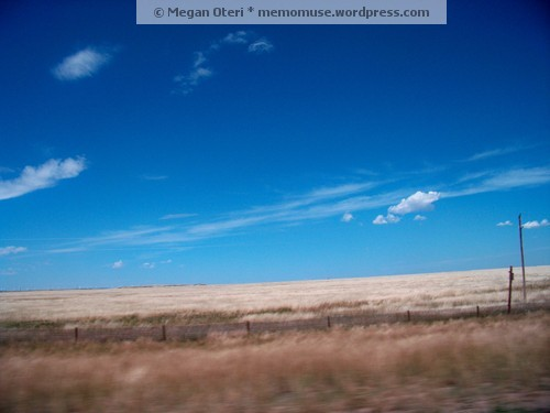 There is nothing more beautifully blue than a Wyoming sky!