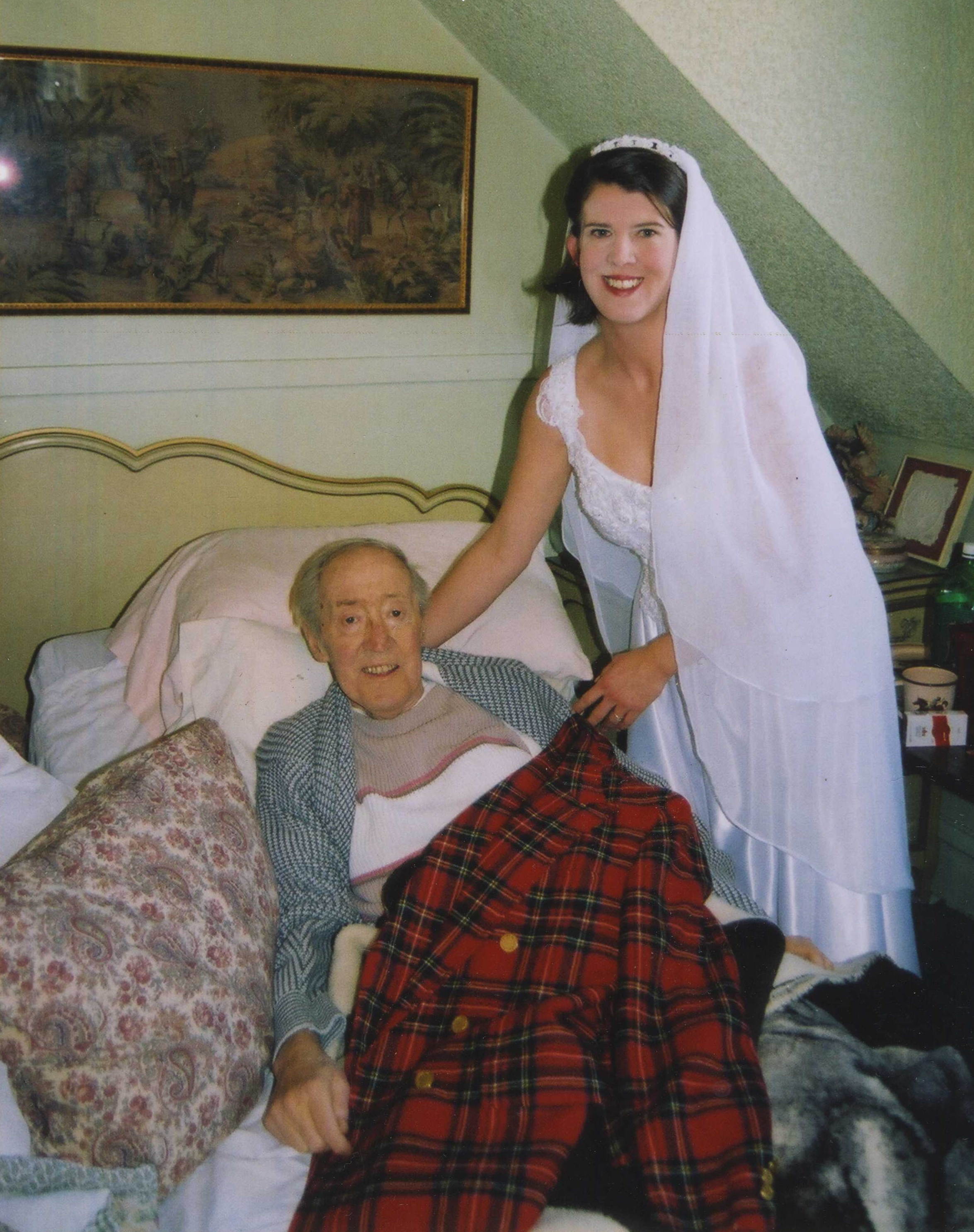 My father and I on my wedding day, November 23, 2003
