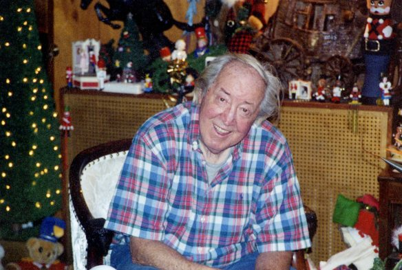 My dad around Christmas time 2002 -- his last Christmas