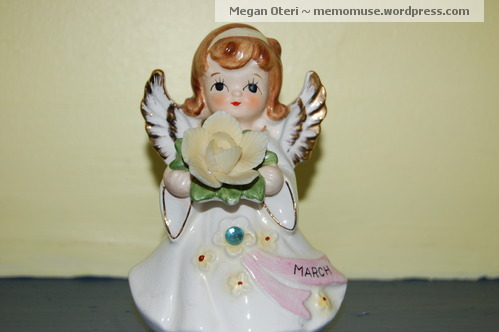 My mother gave me this angel and her mother gave it to her.