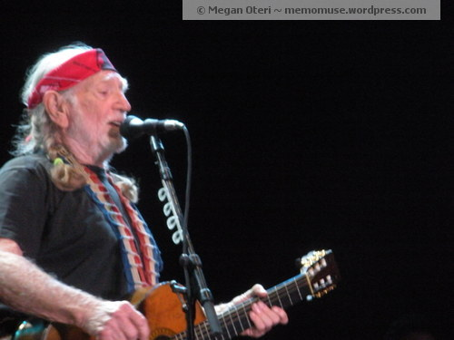 Willie Nelson in concert. I won tickets to see him in concert from a local country radio station.