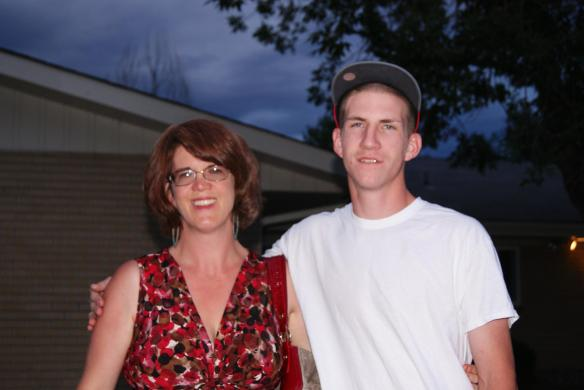 My Nephew and Me at my mom's nursing home August 2012 (the last time I saw her)