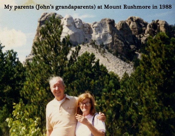 My mom and dad at Mount Rushmore