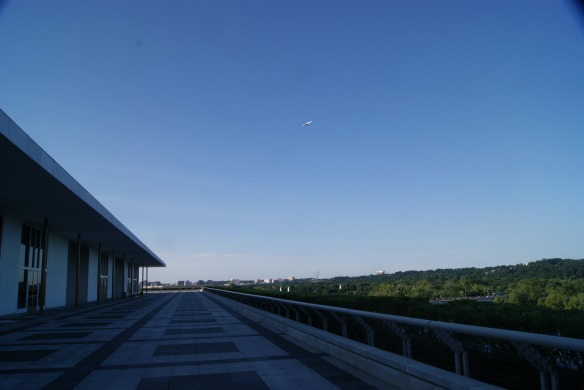 Terrace at Kennedy Center which goes all around the building offering panoramic views of D.C.