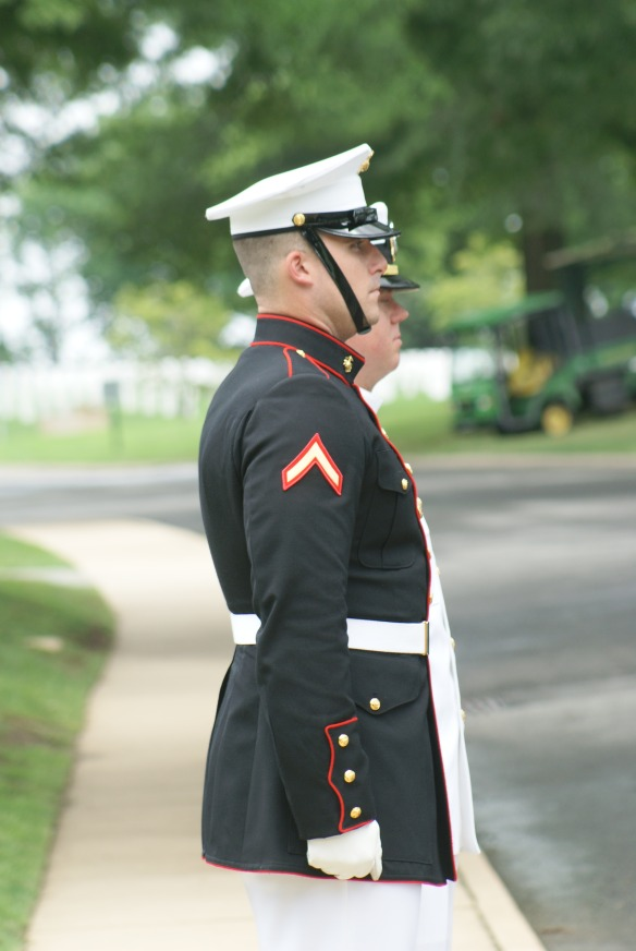 The Pastor and Marine who were at my mom's funeral