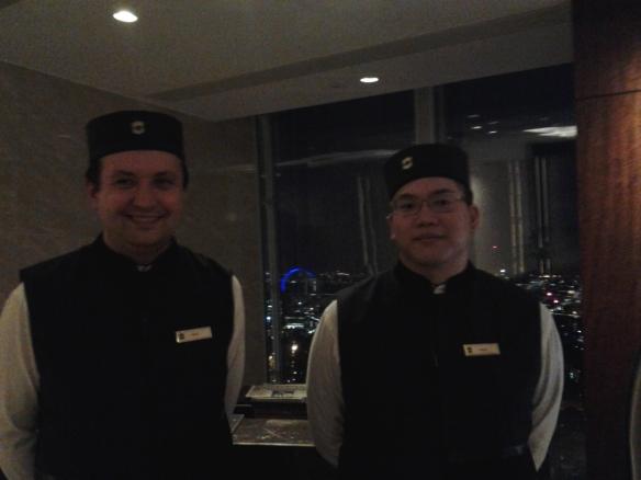 Bell boys at the Shangrai-la Hotel