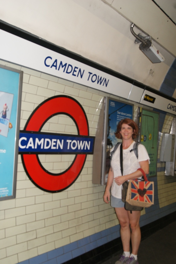 """This is what I was wearing. We had stopped in Camden to watch the World Cup finals. We watched the first half at the """"End of the World"""" Pub."""