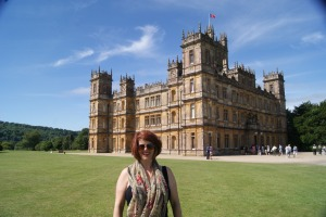 That's me standing in front of Highclere Castle. But let's be honest, we know it as Downton Abbey.