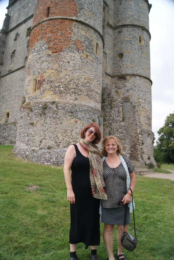 Deb and I in front of a castle