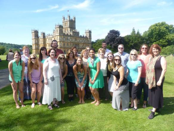 """Group photo of our fellowship class. We are teachers from North Carolina studying abroad,. Our class title is """"Writing and Technology Integration."""" We are actually working really hard on some cutting edge technology and current pedagogy on how to engage students of all levels of writing.  Fascinating class."""